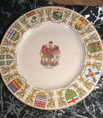 Crown Ducal England Canada Province Plate