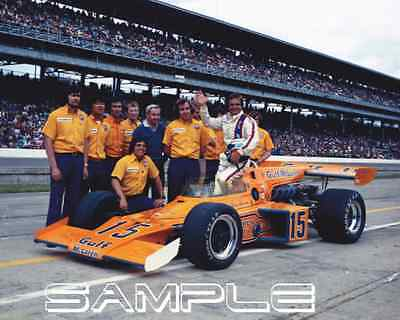 1973 INDIANAPOLIS 500 Peter Revson Gulf McLaren Offy Indy ...