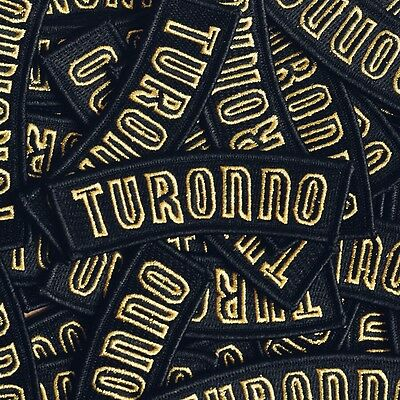 "Embroidered ""Turonno"" Patch - toronto Drake iron on raptors we the north ovo"