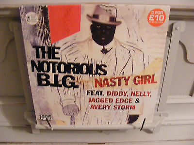"""The Notorious B.I.G. 12"""" single Nasty Girl feat. Diddy, Nelly etc. EX/EX"""