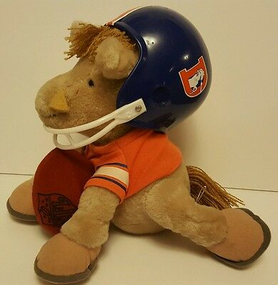 Vintage 1983 Denver Broncos plush mascot NFL official American Football soft toy