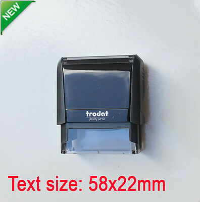 Personalised Self Inking Rubber Custom Stamp Business Address Logo 58x22mm