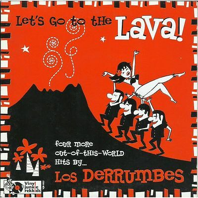 """45, 7"""" - Los Derrumbes - Let's Go To The Lava! - Surf, Spain, Hear!"""