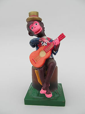 Vintage Occupied Japan Wind Up Toy 'Monkey Playing Guitar'