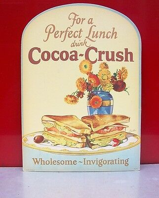 Cocoa Crush Cardboard Sign