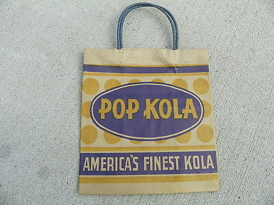 Pop Kola Beverages Soda Bottle Bag