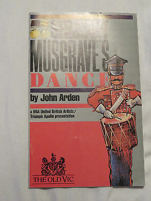 c1960s Old Vic Theatre - Sarjeant Musgrave's Dance. Albert Finney Alun Armstrong