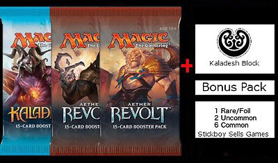 Aether Revolt Draft Pack - 3 x NEW and SEALED MtG Boosters + BONUS Prize pack