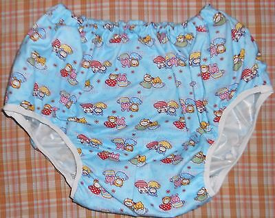 Adult Baby Training Pant  Diaper Cover Design In Blue  And Soft Vinyl