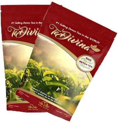 A Month's Supply - 4 x TeDivina 100% Organic Detox  Slimming tea-shipping now!