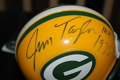 Jim Taylor Hof '76 Signed Green Bay Packers Riddell Mini Helmet