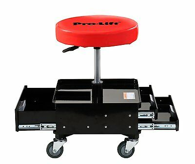 Pneumatic Chair 3-Drawer Tray Rolling Storage Seat Garage Stool Tool Box C-3100