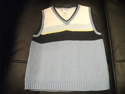 Boys JANIE AND JACK Sweater VEST Cool Colors size 4T GREAT!