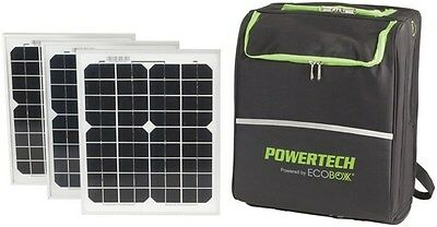 ECOBOX Portable Solar Generator 240v Pure Sinewave in Backpack w/ Solar Panels