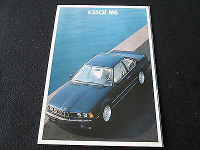 1988 1989 BMW 635CSi M6 Brochure M 635 CSi E24 6 Series Deluxe US Sales Catalog