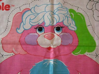 PRIZE POPPLE 1986 vintage DIY craft fabric panel material w/instructions pillow