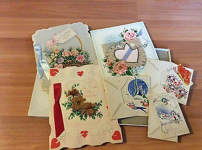 Vintage Lot Of Greeting Cards Valentines Day Easter Christmas