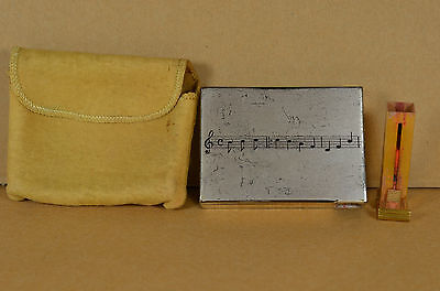Vintage Volupte Reuge Music Box Powder Lipstick Compact