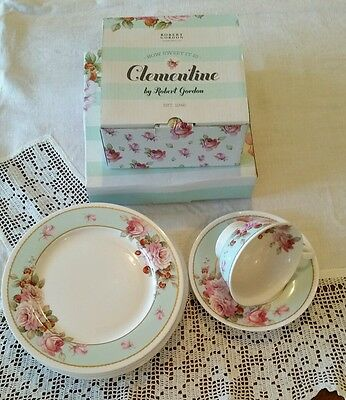 Robert Gordon Clementine Boxed Plates and Duo Roses