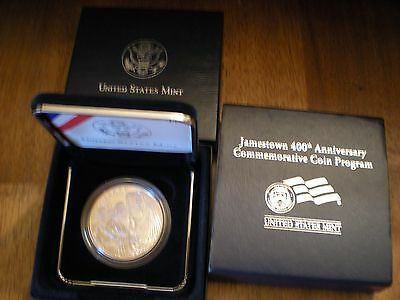 2007 Jamestown 400th Anniversary Silver Dollar PROOF Commemorative Coin