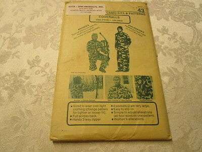 Mens Hunting Coveralls Sewing Pattern-all sizes-UNCUT-1 piece