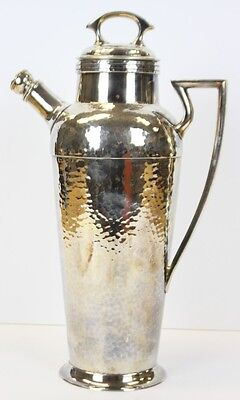 """Classic Hand-Beaten Silverplate Cocktail Pitcher (Patented Jan 11, 1927)"""
