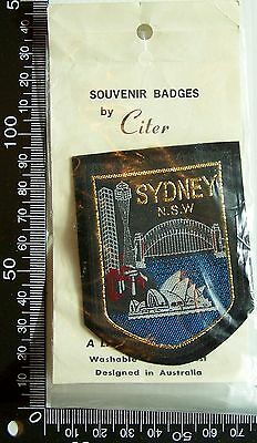 Vintage Sydney Australia Embroidered Souvenir Patch Woven Cloth Sew-On Badge