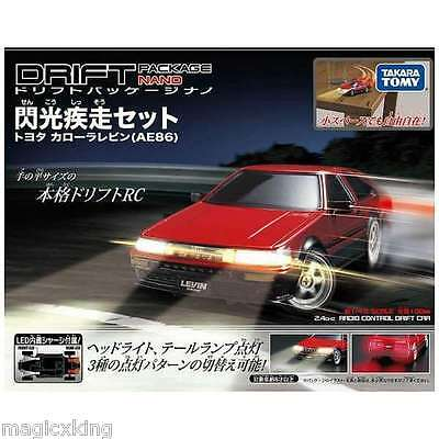 Takara Tomy Drift Package Nano Flash Light Scamper Red Japan RC Remote Car NEW