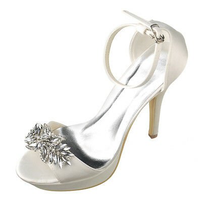 8 Color Size 5-10 Satin Bridal Womens Wedding Dress Party High Heels Shoes W303