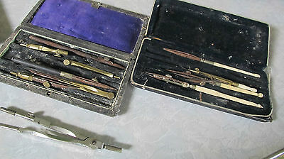 PARTS Vintage Drating Set Tools Engineer Drafting Architect