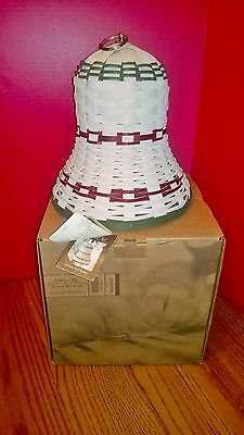 Longaberger 2013 Collectors Club Holiday Christmas Bell Basket New in Box