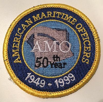 American Maritime Officers 50th Year Patch AMO Union