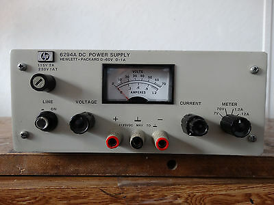 60V 1A Hewlett Packard Agilent  HP 6294A Variable DC Power Supply  Load Tested
