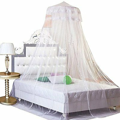 Housweety G00616 Dome Bed Canopy Netting Princess Mosquito Net White Crib Insect