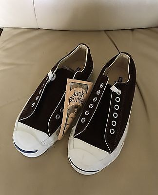 Made In Usa Vintage Converse Jack Purcell Chocolate Suede Size 4 Us Men