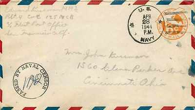 Lettre Cover US Army postal service Censored 1944