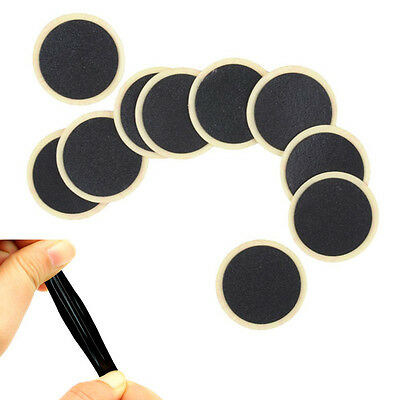 Round Rubber Patch Bicycle Bike Tire Tyre Puncture Repair Piece Patch Kit ToolHG