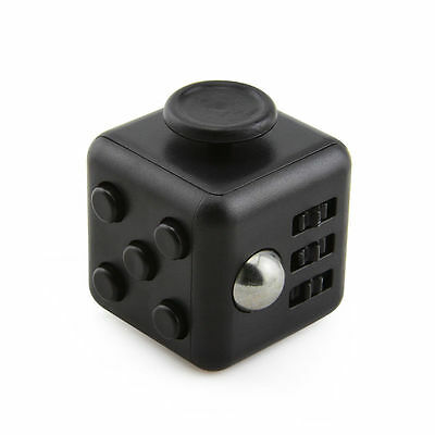 1-5 Packs Black Fidget Cube Anxiety Stress Attention Relief Toys Gifts and Case