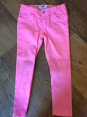 Girls Bright Pink Skinny Jeans 4-5 Years