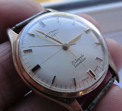 Vintage gents rotary 9ct gold wrist watch