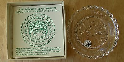 Pairpoint Cup Plate Seraphim New Bedford Glass Museum Christmas 1983