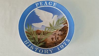 Vintage 1973 Seven Seas Traders Peace in Vietnam Plate Limited Numbered Germany
