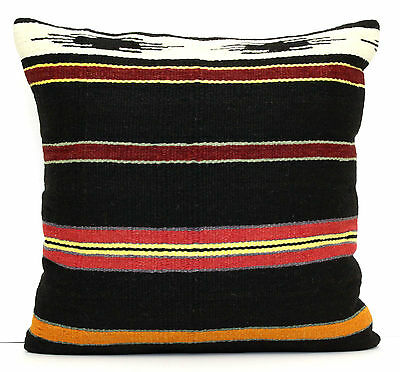 "VINTAGE HANDWOVEN TURKISH KILIM RUG DECORATIVE PILLOW CUSHION COVER 20"" x 20"""
