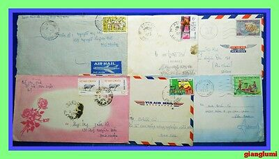 South Vietnam Cover Lot of 6 # 4
