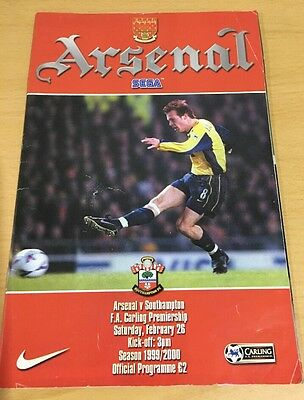 Arsenal v Southampton Programme- 26th February 2000