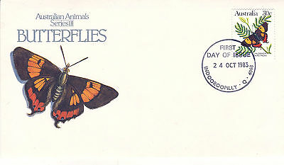 Australia 24 October 1983 Butterflies Official First Day Cover Shs