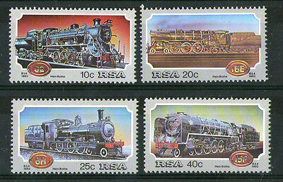 South Africa 1983 Steam Locomotives Set Of All 4 Commemorative Stamps  Mnh