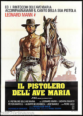 Il Pistolero Dell'ave Maria Manifesto Cinema Spaghetti Western Movie Poster 2F