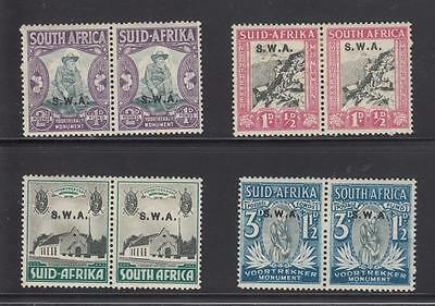 South Africa O/printed Swa # B1-B4 Mlh/mh Pairs Cat Value $54.50