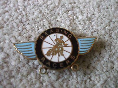 Vintage Reading Racers Enamel Badge Motorcycle Speedway